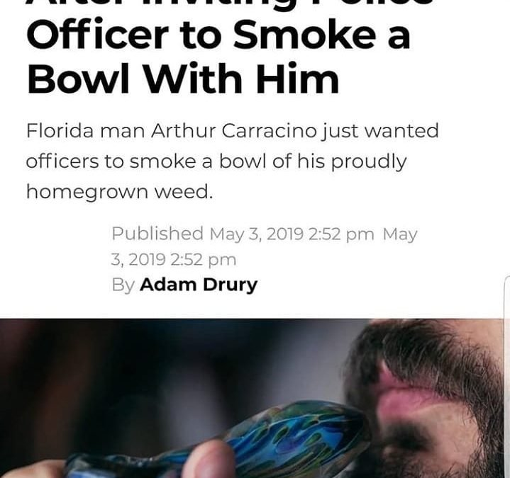 Sup Ociffers, come hit the Peace Pipe to commence a new truce between cops and stoners!!  orrrrr not 🤦♂️