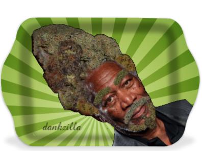 Morgan Fweedman Dankzilla Green Rolling Tray