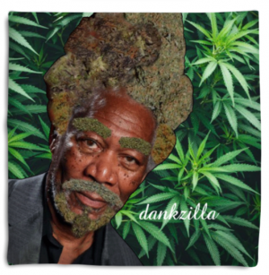 Morgan Fweedman green weed pillow