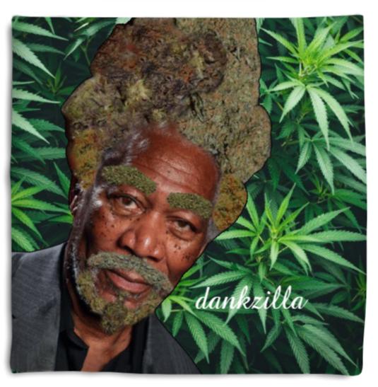 Morgan Fweedman green weed pillow
